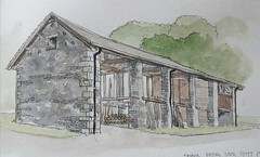 The timber drying shed at Stott Park Bobbin mill, Cumbria