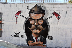 Whiskers (Pensive glance) Tags: graffiti image painting wall mur mural streetart artderue