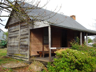 Corryong. The Jarvis Cottage typical of Snowy Mountain cottages. In the Man from Snowy River Museum.
