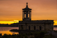 Normanton Church at sunset (Tranquility Rose) Tags: normantonchurch rutlandwater rutland sunset sun backlit church by water cloudsstormssunsetssunrises