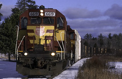 Fading Glory (ac1756) Tags: wc wisconsincentral wcl cn canadiannational emd sd45 6619 oacti troutlake michigan