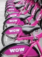 Wow bikes (kenjet) Tags: wow wowair bike bikes purple metal ride riding againandagain repetitive wheels line row