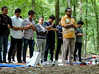 Congretional prayer (A. Yousuf Kurniawan) Tags: muslim prayer praying people dailylife activity religious streetphotography urbanlife tree colourstreetphotography decisivemoment