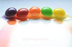 Candy for Macro Mondays (pics by paula) Tags: sweet sweets candy sweetie skittles water rainbow colour color colourful macro monday close up picsbypaula june mondays macromonday macromondays