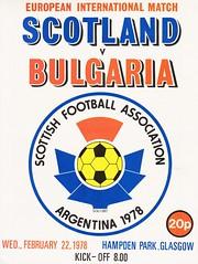 Scotland vs Bulgaria - 1978 - Cover Page (The Sky Strikers) Tags: scotland bulgaria european international match friendly sfa hampden park programme 20p