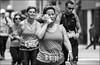 Ottawa Race Day -Hélène (Dan Dewan) Tags: 2018 canonef70200mmf14lisusm portrait 12marathon people person blackwhite lady ottawa runner sunday street running woman dandewan ontario canada bw may race canon