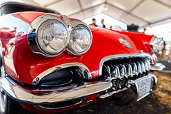 Chevrolet Corvette (Sergio Nevado) Tags: coche car clasico clasic chevrolet corvette rojo red faro headlight barnout vitoria gasteiz alava araba pais vasco euskadi basque country