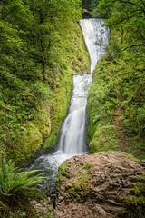 Bridal Veil (writing with light 2422 (Not Pro)) Tags: bridalveilfalls waterfall oregon horsetail green humanelement richborder sonya7 bridge