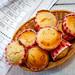 Vanilla Muffins in a Basket