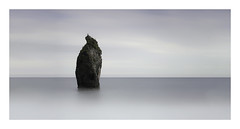 The lonely one. (thephotobulb) Tags: sky water ireland stopper big filters lee blackandwhite minimalistic minimalism exposition cloud clouds photo monochrome exposure long image art fine bw white black seascape landscape sea bay rock ocean ballydwan waterford panorama moody