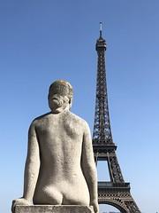 Daydreaming in Paris (GregKoren) Tags: statue daydreaming eiffeltower paris france