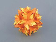 Plumeria (masha_losk) Tags: kusudama кусудама origamiwork origamiart foliage origami paper paperfolding modularorigami unitorigami модульноеоригами оригами бумага folded symmetry design handmade art