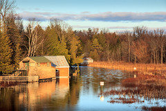 Autumn On The River (Robert F. Carter) Tags: afternoon afternoonlight alanson autumncolor autumncolors boathouse boathouses crookedriver fall fallcolor fallcolors groom landscape landscapes river rivers autumn robertcarterphotographycom puremichigan ngc