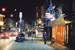 Camden Town (goodfella2459) Tags: nikon f4 af nikkor 50mm f14d lens cinestill 800t 35mm c41 film night analog colour camden town london city streets road cars shops buildings manilovefilm light