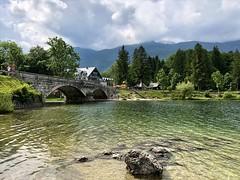 Ribčev Laz & Hotel Jezero (aiva.) Tags: slovenia triglav bohinj lake water slovenija landscape bridge