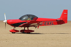 G-EXXL (QSY on-route) Tags: gexxl lancashire landing 2018 fly in knott end beach airfield 09062018