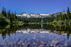 Mammoth Mountain: Twin Lakes (Joshua Mellin) Tags: mammothmountain twinlakes mammoth visitmammoth travel beautiful majestic mountains winter summer 2018 cold trees green bright clear blue sunny reflection land bobross painting amazing wow iconic tourism journalist writer blogger photographer photo photos pic pictures pics picture joshuamellin best sharp incredible book cover album bold stark dynamic excellent west western unitedstates us america cali california bear bears waterfall water lake warm sun pointy fern evergreen evergreens tree nature