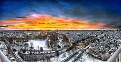 Dawn on snowy Josaphat Park – 130126-ps8 (Jacques de Selliers (OFF/ON)) Tags: dawn sunrise snow brusilia brusiliaresidence brussels josaphat park josaphatpark schaerbeek belgium deselliers jacquesdeselliers belgique