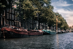 Amsterdam I (bjdewagenaar) Tags: photography photograph photographer photooftheday sony sonyalpha sonyphotographer sonyimages sonya77ii sonya minolta minoltalens primelens 28mm water boats ships city trees sky clouds urban amsterdam holland dutch raw lightroom