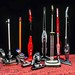 Stick vacuum cleaners on the rug