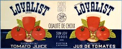 Loyalist Brand Tomato Juice (Will S.) Tags: mypics ottawa ontario canada agriculture food museum canadaagricultureandfoodmuseum tomatojuice can label loyalist unitedempireloyalists uel ue