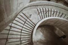 Tate modern stairway 1 (Alizarin Krimson) Tags: blackwhite tatemodern sepia blackandwhite bnw stairs stairway tate concrete london