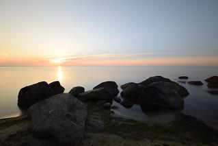 Sunrise in Baltic sea.