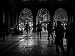 The Bethesday Arcade (C@mera M@n) Tags: bethesdaarcade bethesdafountain blackandwhite centralpark city citylife manhattan ny nyc newyork newyorkcity newyorkcityphotography newyorkphotography people places silhouette structure urban outdoors shadows urbanlife
