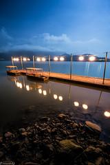 蔣公碼頭 (nexpu222) Tags: 南投 魚池 日月潭 蔣公碼頭 雲霧 月光 星空 夜景 銀河
