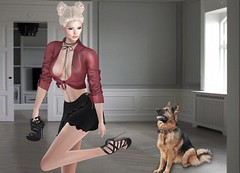 Mila Blauvelt (Mila Blauvelt) Tags: milablauvelt model avatar virtual secondlife shopping sl exclusive event designercircletheevent sirk shirt shoes necklace outfit bodymesh maitreya lara belleza slink fashion female fashionindustry fashionstyle mesh meshavatar new news red style casualstyle casual casualwoman
