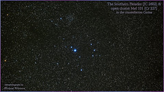 2018 May 17 ~ The Southern Pleiades (IC 2602) & open cluster Mel 101 (msfwatson@rogers.com) Tags: astrometrydotnet:id=nova2631617 astrometrydotnet:status=solved