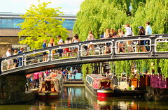 Camden Lock (Roy Richard Llowarch) Tags: locks lock canal canals regentscanal london camden camdenlock camdentown ldn people water bridge bridges trees canalboat canalboats narrowboat narrowboats buildings sunshine summer weekend travel travelling crowds blueskies bluesky clouds city cities walks scenic scenicviews transport waterway waterways innercity england londonengland barge barges greatbritain uk unitedkingdom relaxation sunday sundays weekends lovelondon color colorful colour colourful english families familyfun royllowarch royrichardllowarch walking daytrips holidays boating boats boat beauty beautiful beautifulplaces europe european tourism tourists sun eating drinking