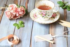 Una mattina di giugno (Giovanna-la cuoca eclettica) Tags: stilllife fiori tè tea teacup pink stagioni estate