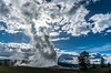 Old Faithful - Yellowstone National Park (adamthehippo) Tags: old faithful wyoming yellowstone national park clouds sky hot water nature sony