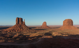 Monument Valley at dusk