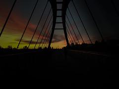 Bridge to hell. (Devan Dahl) Tags: bridge sunset city berlin