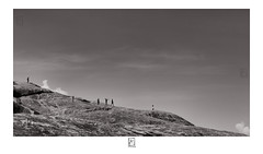 Hill , Slope , Fun (krishartsphotography) Tags: krishnansrinivasan krishnan srinivasan krish arts photography fineart fine art monochrome kids youngsters slope hill down sky clouds texture affinity photo dindigul fort tamilnadu india