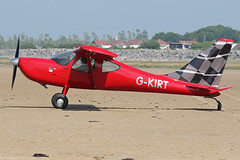 G-KIRT (QSY on-route) Tags: gkirt lancashire landing 2018 fly in knott end beach airfield 09062018