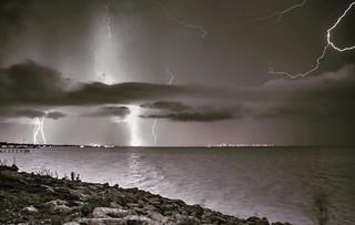 Galveston Bay Lightning Storm