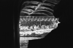 Swallowed Alive. Disneyland. (lammyracer) Tags: disneylandonfilm disneyland fantasyland minoltaaf2 minolta fomapan 35mmfilm blackandwhite