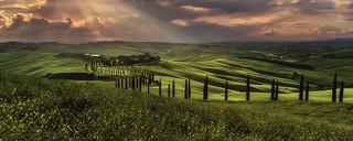 Tuscany - Crete Senesi Sunset