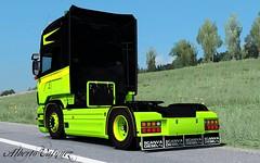 SCANIA R580 F.P TRANSPORTS (Alberto Vasquez25) Tags: ets2 truck scania r580 4x2 skin fp transports topline road