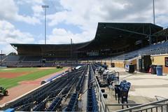 Durham Bulls Athletic Park stands from left field entrance (jvvg) Tags: durham northcarolina ballpark baseball durhambulls