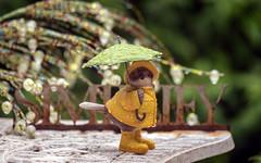 it's still raining! (Dotsy McCurly) Tags: nikond750 afsnikkor200500mmf56eedvr rain raining arttoy mini figure fun yard nj newjersey