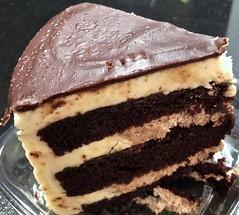 chocolate eruption cake slice (Fuzzy Traveler) Tags: chocolate cake buttercream frosting dessert sweets chocolateeruptioncake icing
