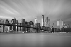 NY state of mind (Andy Kennelly) Tags: ny new york manhattan brooklyn bridge city long exposure cityscape bw clouds motion