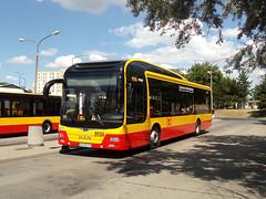 "MAN NL253 Lion`s City Hybrid, #9556, ""Mobilis"" Mościska dept Warsaw (transport131) Tags: bus autobus ztm warszawa wtp man nl253 lions city hybrid mobilis"