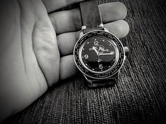 Rebuilt 'Vostok Amphibia' With Dial Change; Custom 'Boris' Bezel, World Time Insert And 'Geckota Simple' Handmade Leather Strap. (spehmaster78) Tags: russian boctok divewatch motog5splus wristwatch ruleofthirds composition monochrome blackandwhite digital vostokamphibia watchmod