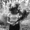 Inner Chaos (Allison Coles) Tags: smokebomb conceptualphotography blackandwhite bw emotivephotography portrait fineartphotography allisoncolesphotography