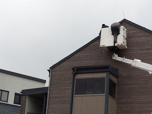 Práce vo výške ana neprístupných miestach za pomoci hydraulického ramena